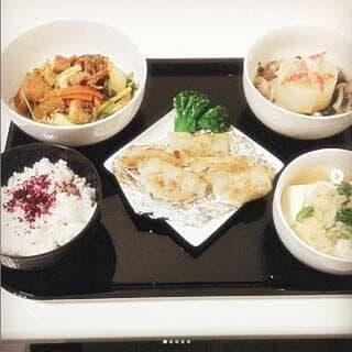 揚げ餃子 大根のカニカマ餡掛け たぬき奴 小松菜と厚揚げのキムチ炒