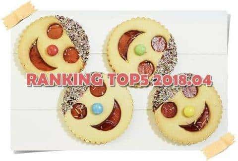 【月間ランキング TOP5 】2018年4月#キャベバンバンが話題