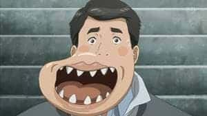 出典:漫画 寄生獣で顎に寄生(ジョー)された人