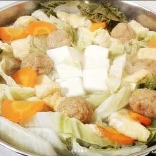 いつものお鍋 : つくねのシンプル水炊き