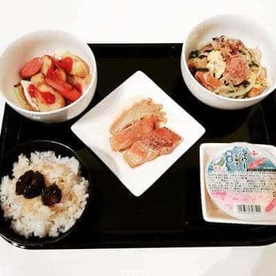赤魚の煮付け ガーリックジャーマンポテト ゴーヤと厚揚げのチャンプルー 冷やし茶碗蒸し
