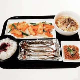 イカ唐揚げと野菜炒め 子持ちししゃも 白菜とツナの旨煮 ポン酢de納豆