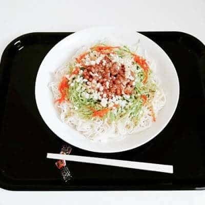 昼 : 納豆サラダそうめん
