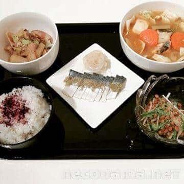 豚バラ大根 しめ鯖 カレースープ 水菜と納豆の和え物