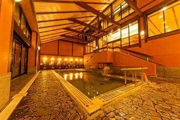 雄琴(おごと)温泉 雄山荘の大浴場