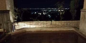 雄山荘 お部屋の露天風呂 夜の様子
