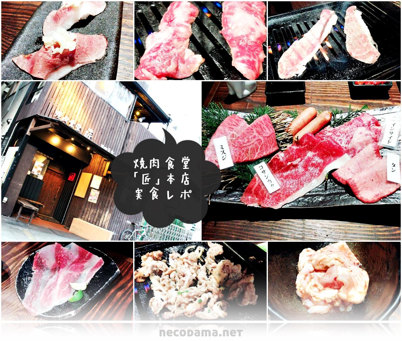 サシたっぷりの希少肉を堪能「焼肉食堂 匠本店」@西中島南方