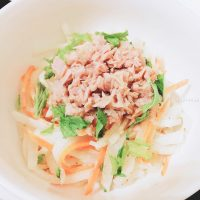 食感が美味しい 大根のツナマヨサラダ