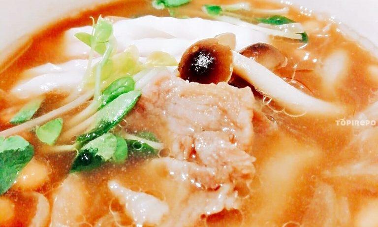 作り置きOK*豚と納豆の温かいつけ蕎麦