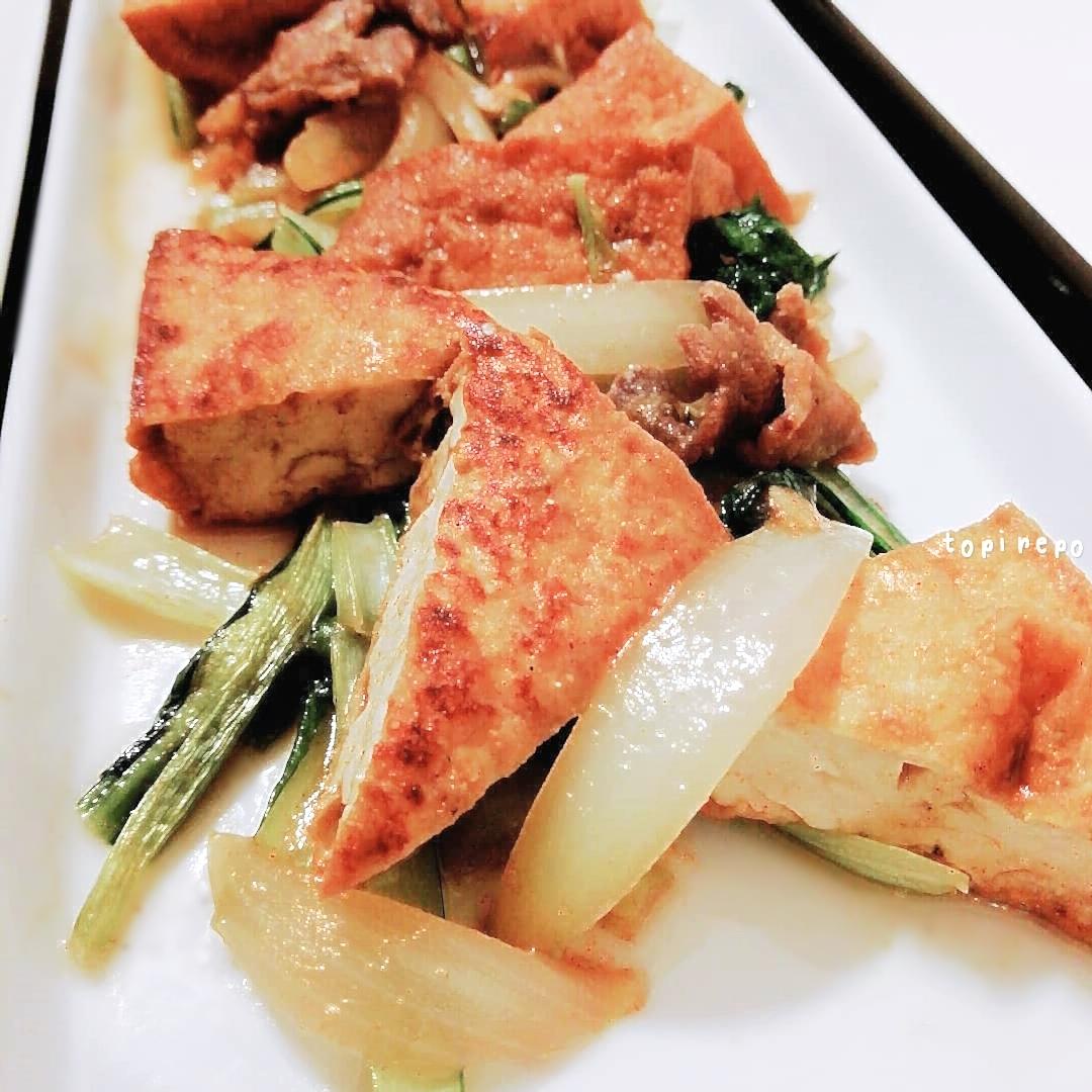 食欲そそる 小松菜と厚揚げみそカレー炒め