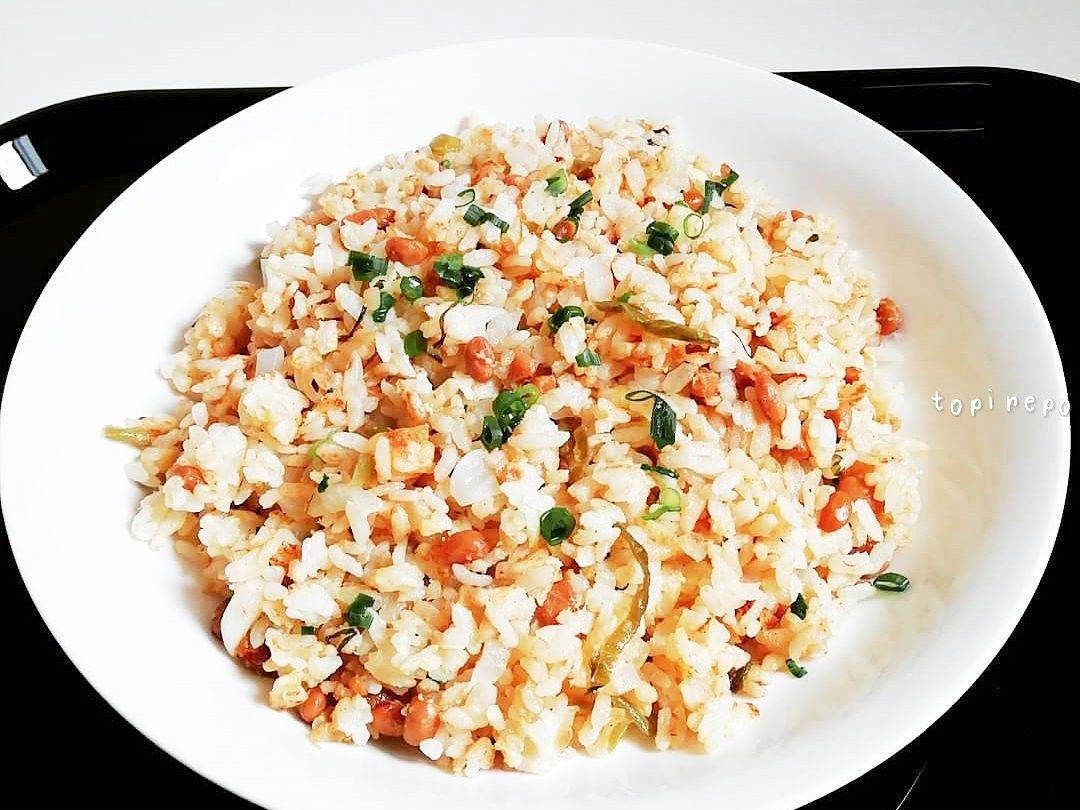 パラパラ納豆チャーハン