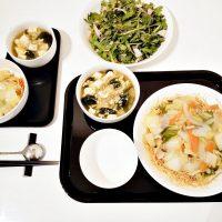 春菊の生サラダと皿うどん*中華定食@夫