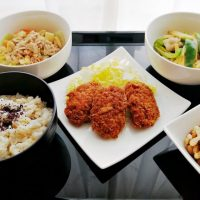 白菜とツナの旨煮献立*影響もそれぞれ。