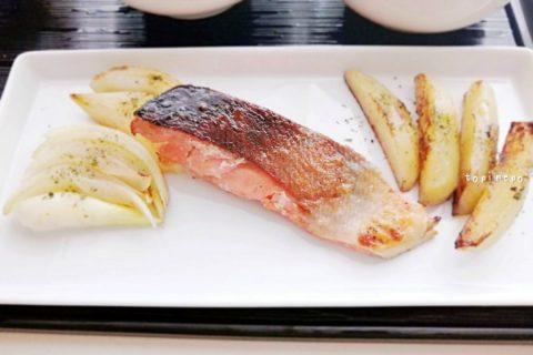 鮭とポテトのオリーブソテー