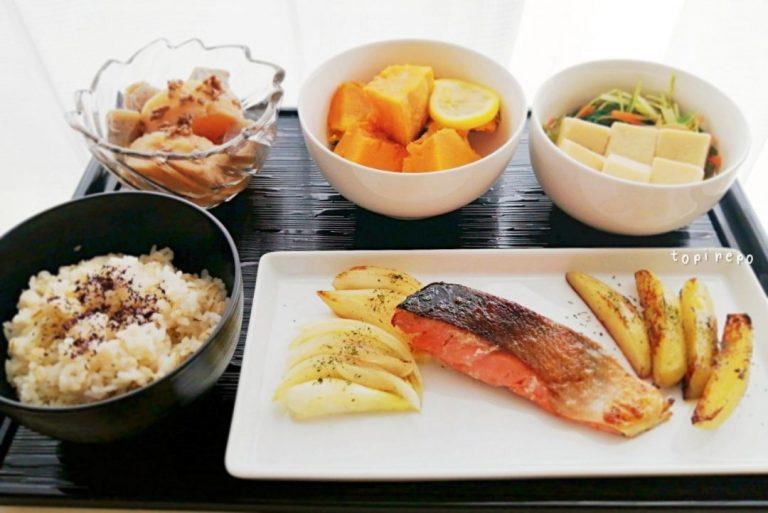 鮭とポテトのオイル焼きほか4品
