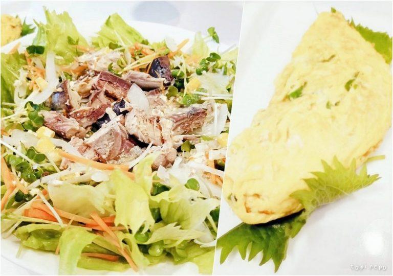 鯖サラダ / 葱だし巻き