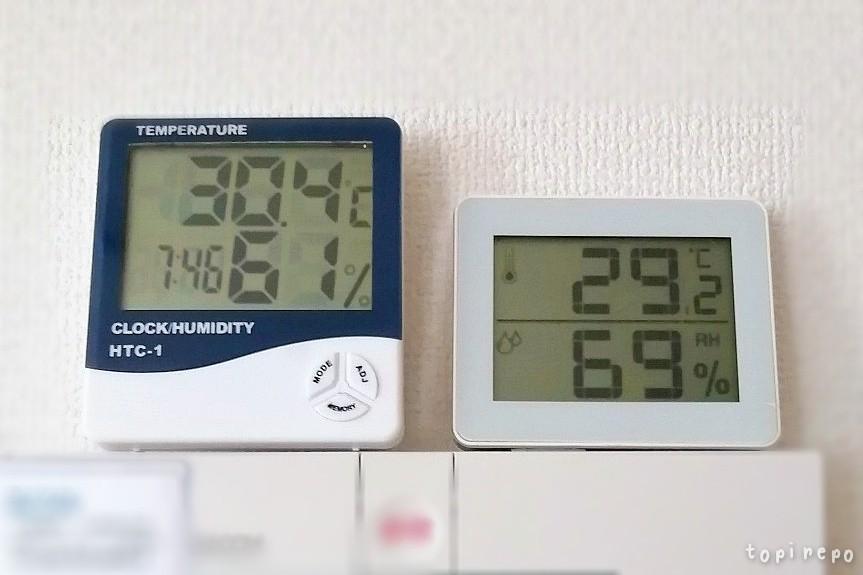 温度計、誤差あり。*胡麻だれ水餃子献立