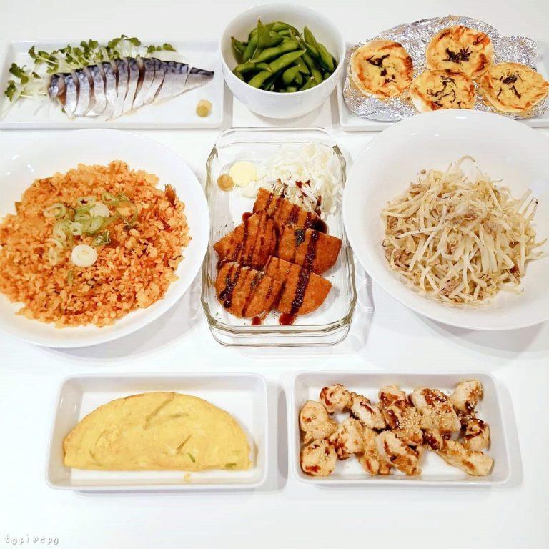 キムチ炒飯ほか8品の週末家飲み