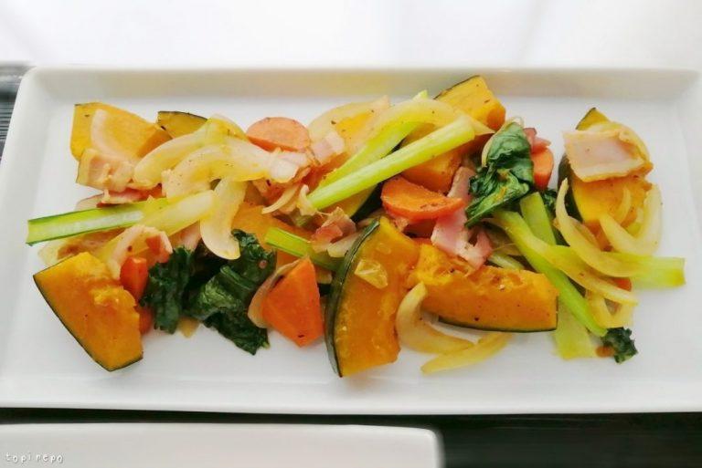 ベーコンと野菜の彩り炒め@夕食ネット