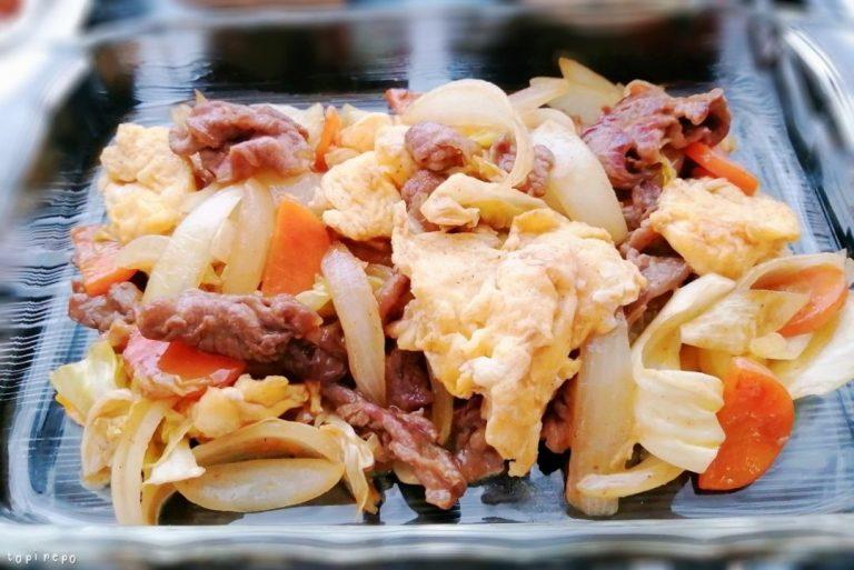 牛肉と卵のXO醤炒め@夕食ネット