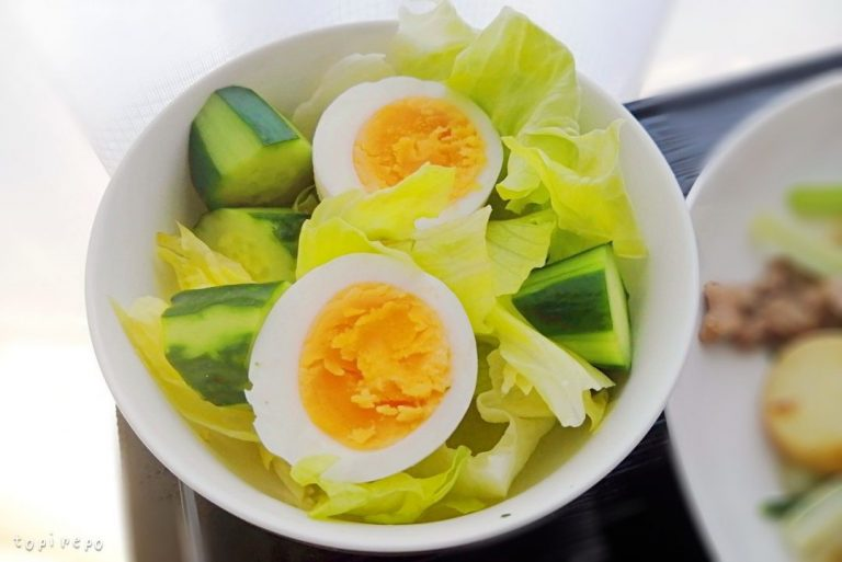 ゆで卵のサラダ@夕食ネット