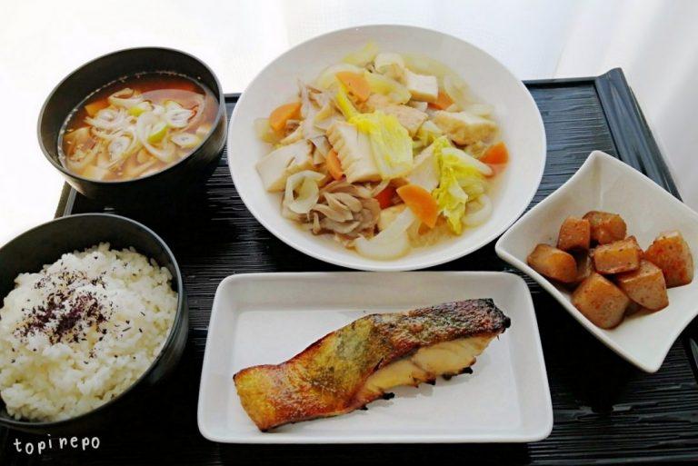 白身魚の味噌漬焼きほかの晩ごはん