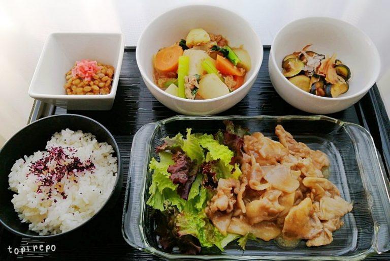 和食: 豚ロースのくわ焼きほかの献立