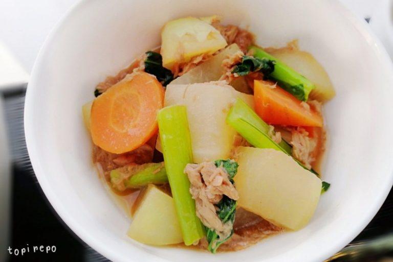彩り野菜とツナの煮もの@夕食ネット