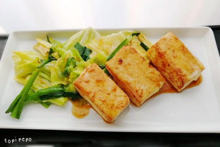 こんがり豆腐ステーキ@夕食ネット