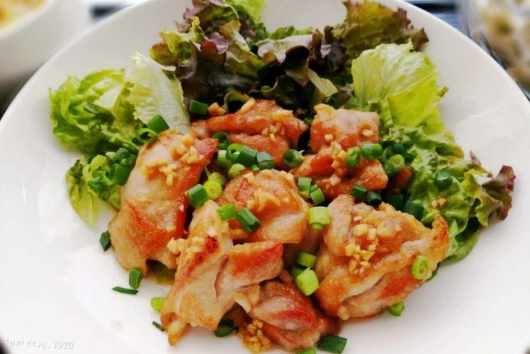 鶏もも焼きの薬味じょうゆがけ@夕食ネット