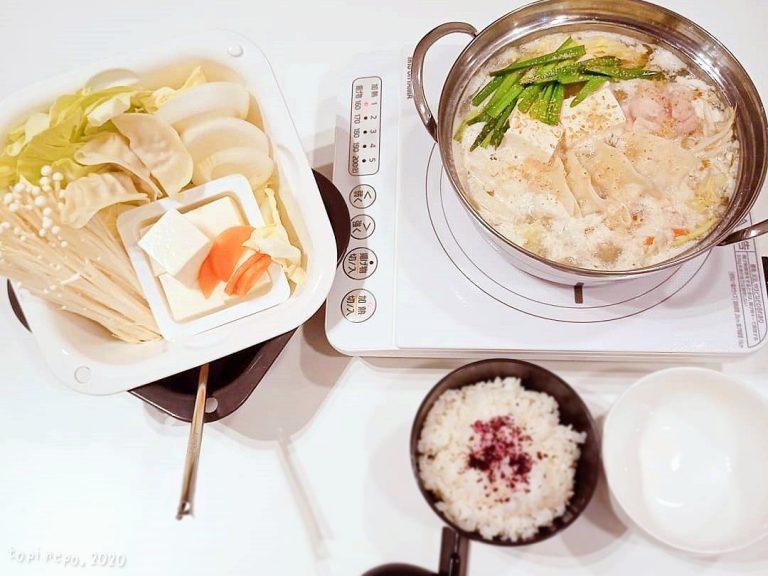 中華白湯鍋(盛り付け図)