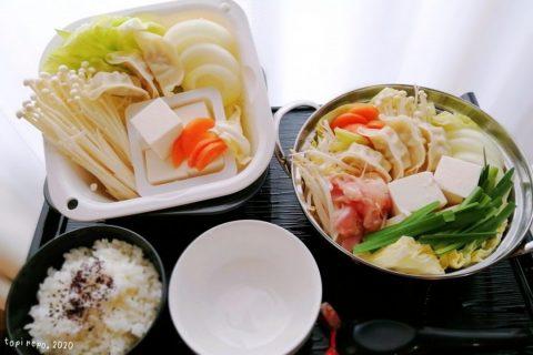 ボリュームに満足した鶏白湯鍋