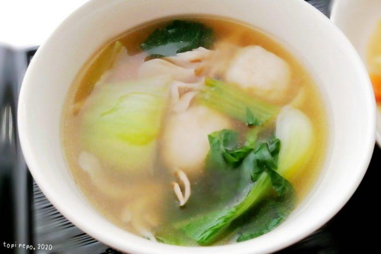 エビボールの中華スープ