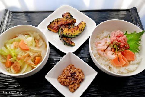 海鮮丼&黒ごまかぼちゃとお弁当作りのモチベ