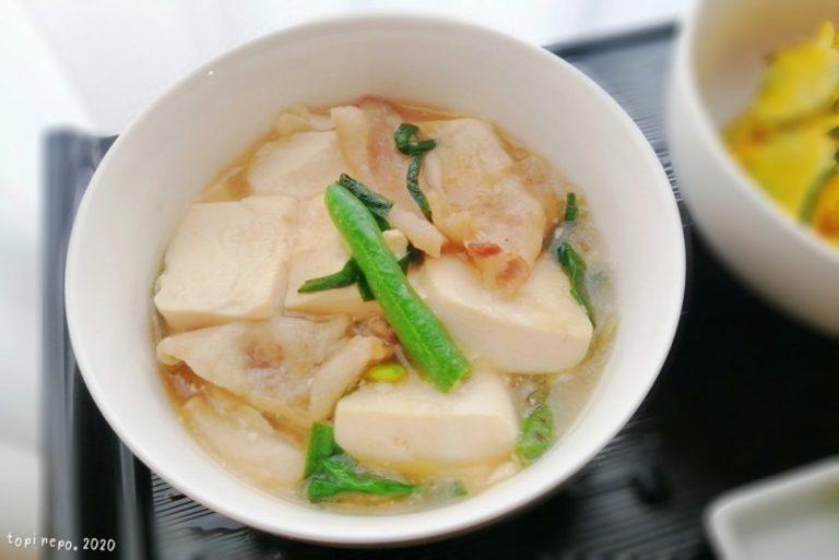 豚と豆腐の塩あんかけ