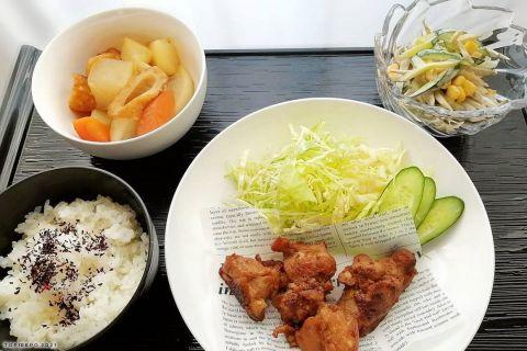 照り焼きチキン大根のあっさり煮・ごぼうサラダ