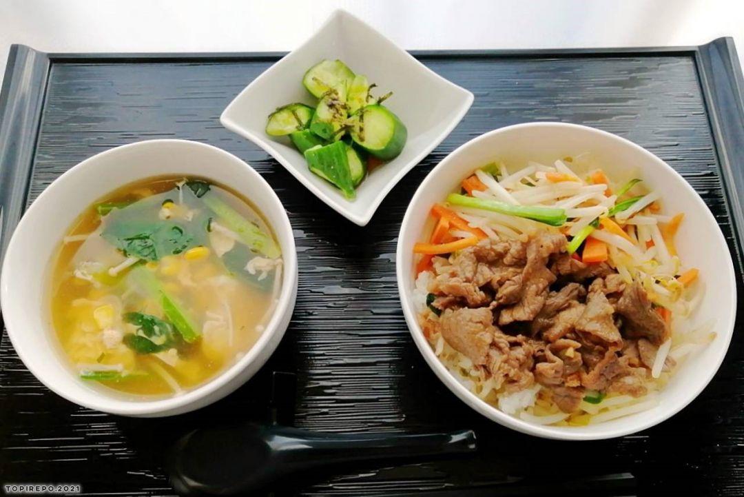 ビビンバ丼&ほうれん草卵スープ・たたき胡瓜