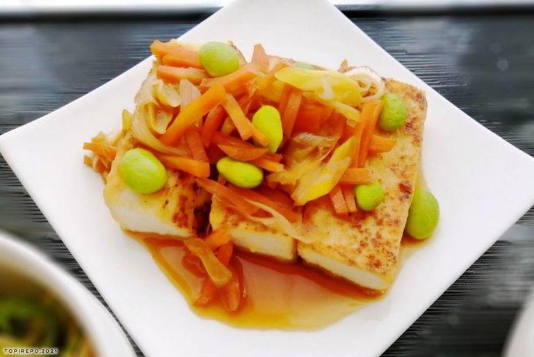 あんかけ野菜豆腐ステーキ