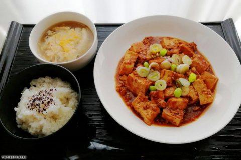 四川風ピリ辛麻婆豆腐&ふかひれ入り中華スープ