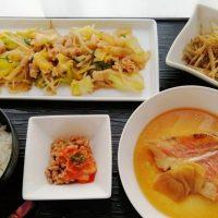 赤魚の煮付け&鶏野菜みそ炒め・ごぼうごま和え