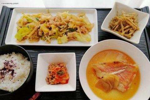 赤魚の煮付け&鶏ももみそ炒め・ごぼうごま和え