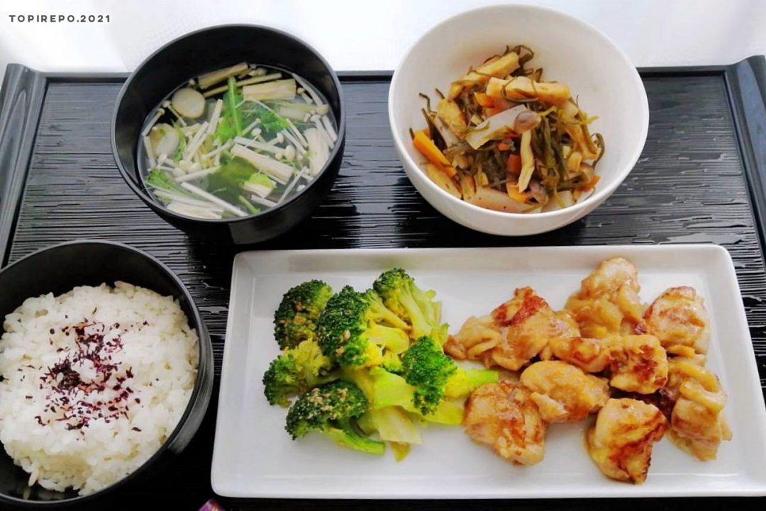鶏の生姜照り焼き&昆布煮物・えのきのお澄まし