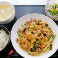 韓国チャプチェ&三色ナムル・大根と葱のスープ