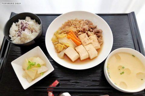 肉豆腐&かんたん茶わん蒸し・ゆずこしょう和え