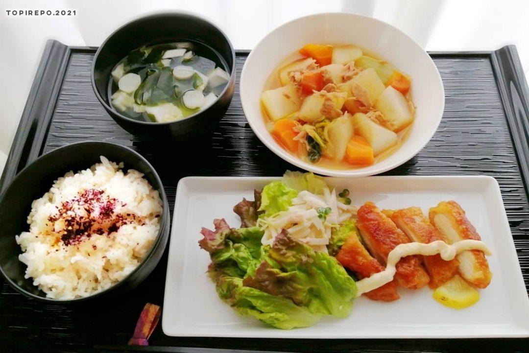 チキン南蛮&ツナ大根煮・白菜とわかめのみそ汁