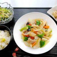 八宝菜&かに焼売・切干大根と水菜のマヨあえ