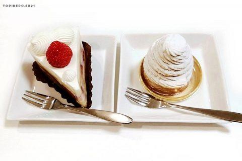 ショートケーキとモンブラン