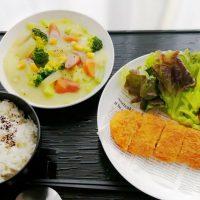カジキ鮪ステーキカツ&ごろごろコーンシチュー