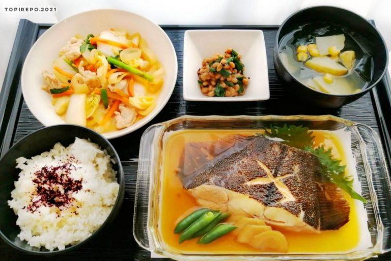 子持ちがれい煮付け&野菜炒め・じゃが芋みそ汁