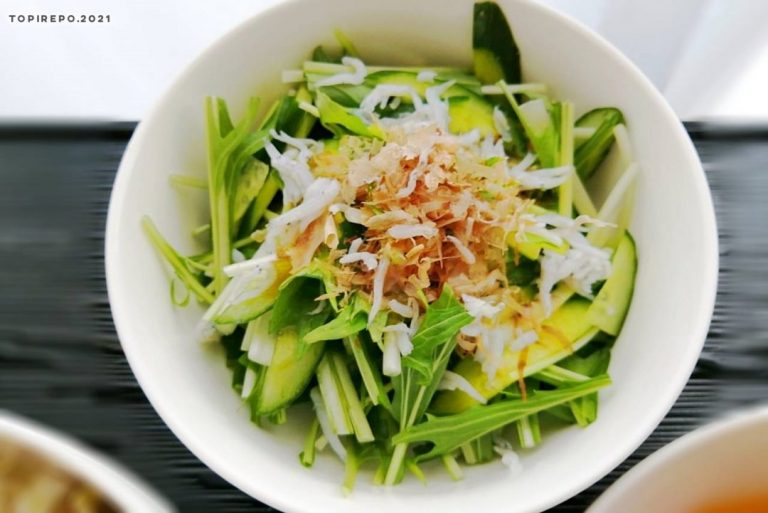 胡瓜と水菜のおかかポン酢